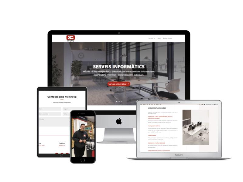 xg innova servei de venda d'equips informatics pàgina web