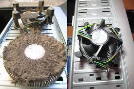 ventiladores del ordenador llenos de polvo, necesidad de mantenimiento técnico y limpiarlos