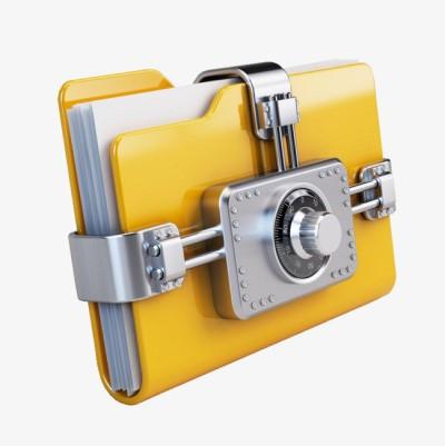 guardar datos seguros carpeta con caja de seguridad