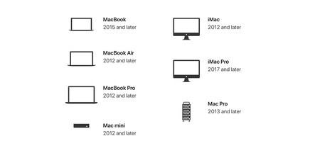 dispositivos que permiten la nueva actualizacion de apple mac os 10.15 catalina