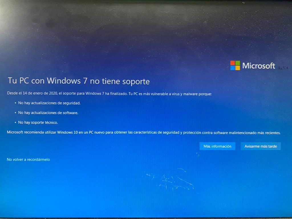Microsoft ha dejado de dar soporte a Windows 7 desde el 14 de enero del 2020. Por lo tanto, el Windows 7 se ha quedado obsoleto.