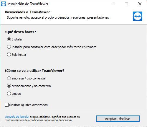 Bienvenidos al TeamViewer