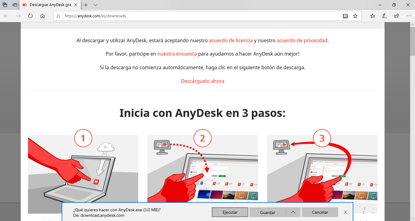 Ejecutar AnyDesk
