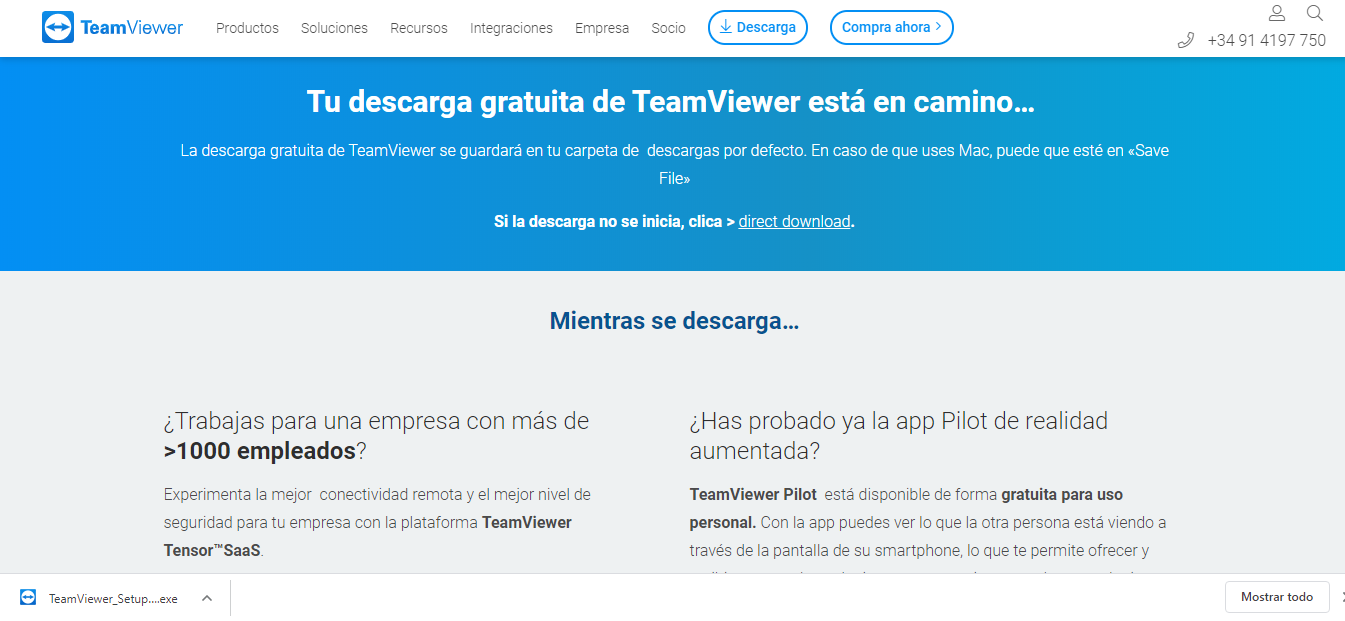 Ejecutar TeamViewer