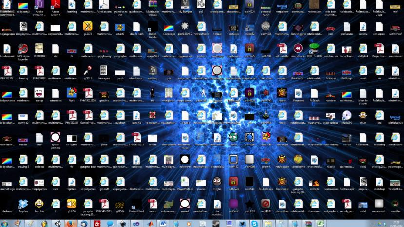 no satures el escritorio de tu ordenador