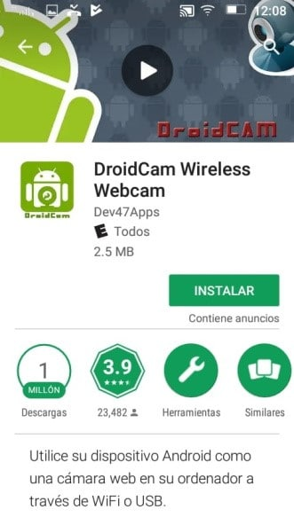 Instalar DroidCam Wireless Webcam en Apple Store