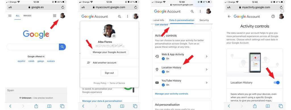 Cómo activar la opción de borrado automático del historial de Google