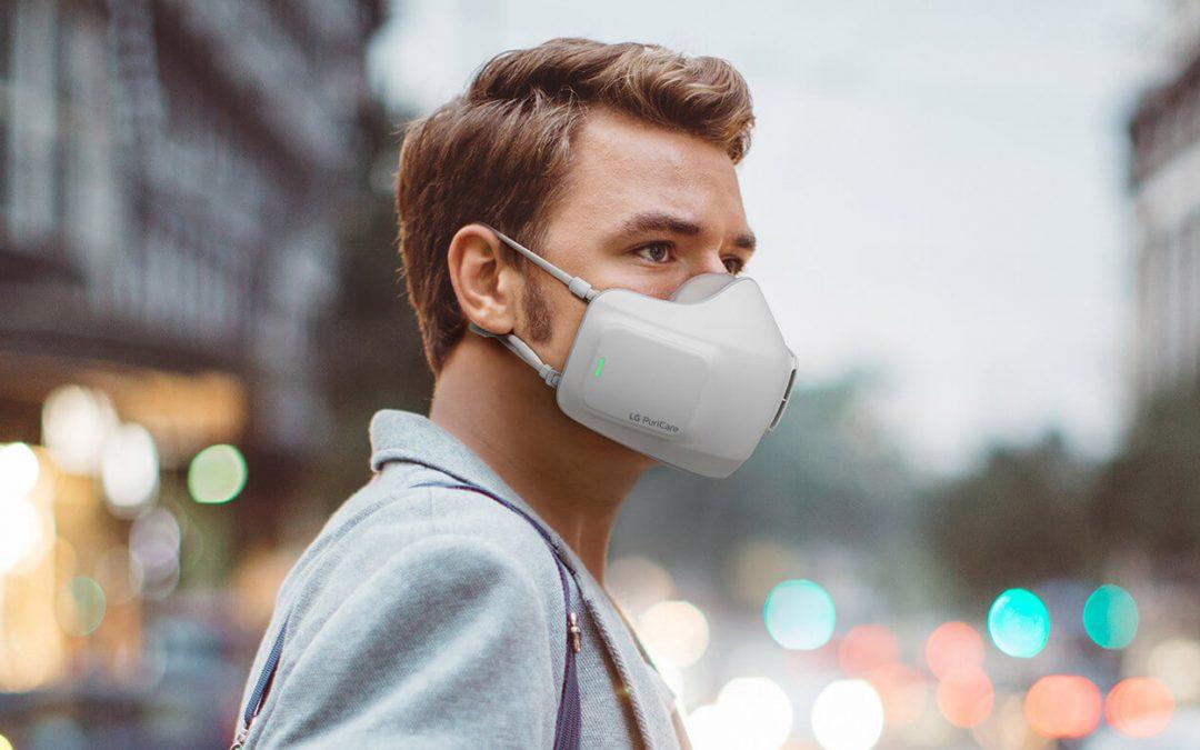La mascarilla electrónica de LG que purifica el aire constantemente llega para quedarse