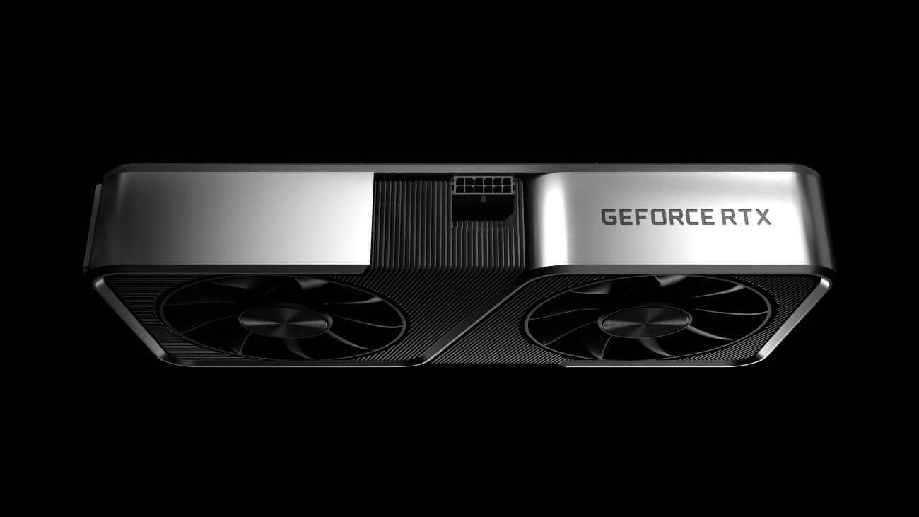 GPU RTX 3070 de lado