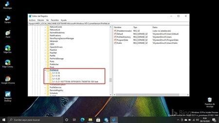 Tercer paso para solucionar el problema de Windows con perfil temporal