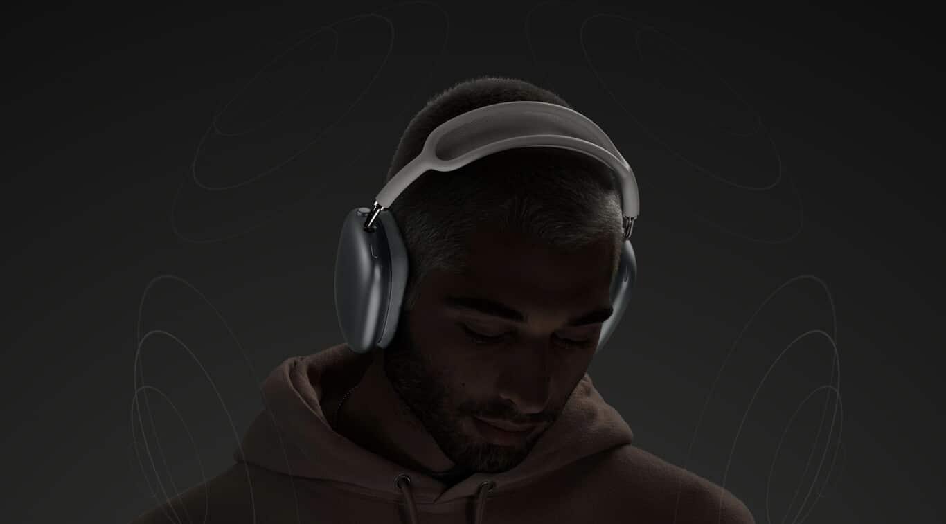 escuchando airpods max