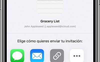 Notificaciones en los cambios en la app Notas